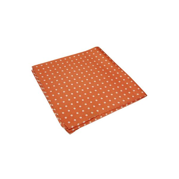 Orange and White Spotted Silk Handkerchief