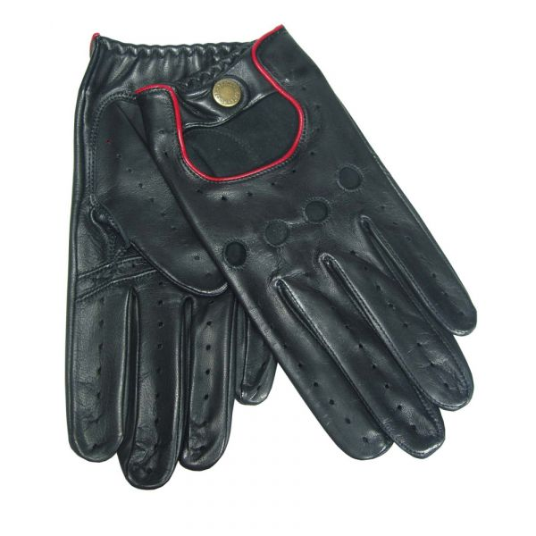 Black/Berry Mens Driving Gloves From Dents