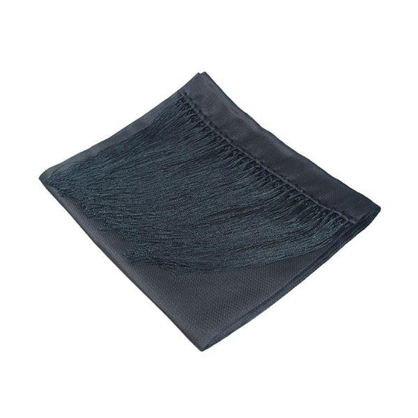 Black Waffle Silk Dress Scarf