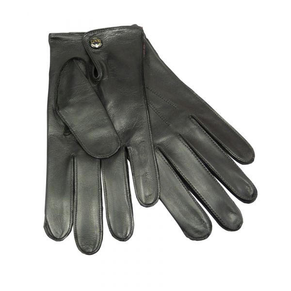 Black Unlined Nappa Leather Men's Glove