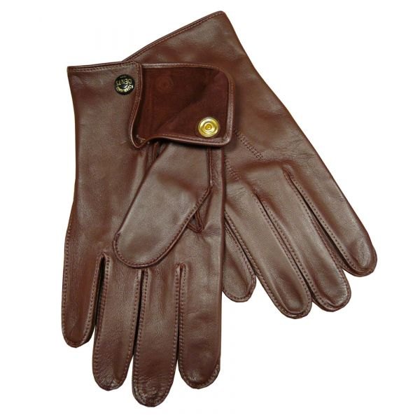 Tan Unlined Nappa leather gloves
