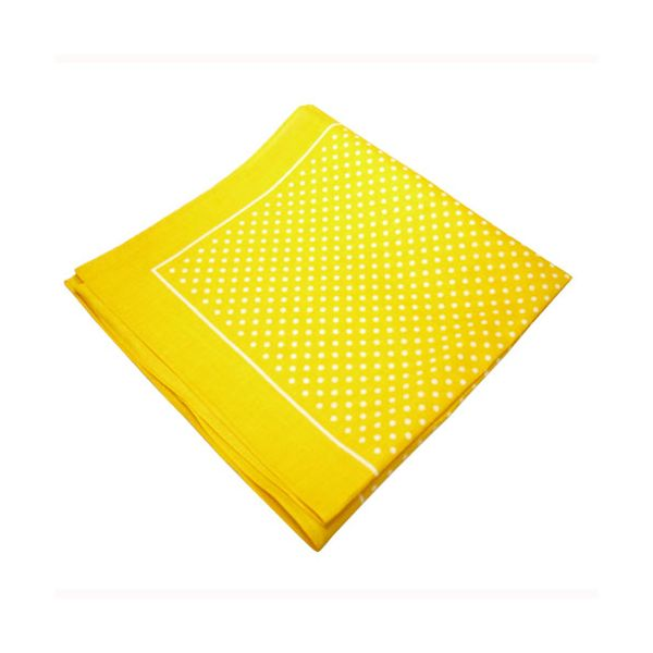 Yellow Spotted Cotton Bandana
