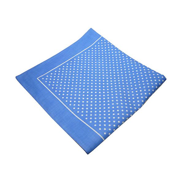 Blue Spotted Cotton Bandana