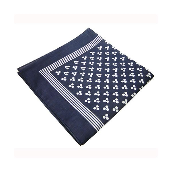 Navy 3 Spot  Cotton Bandana
