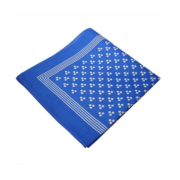 Blue 3 Spot  Cotton Bandana