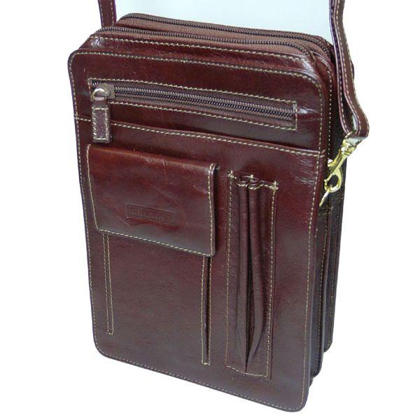 Mans Tan Leather Organiser Bag from Golunski