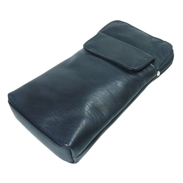Soft Black Leather Spectacle Case