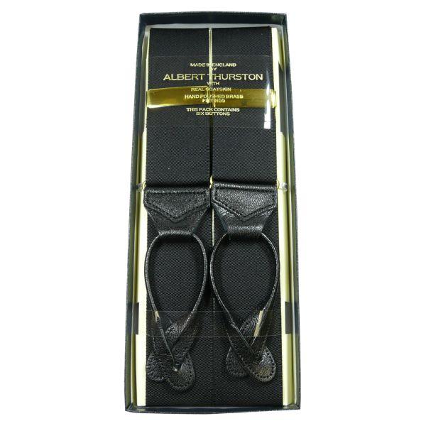 Albert Thurston Black Button Attach Braces