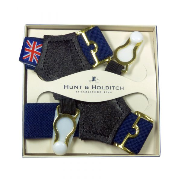 Navy Blue Sock Suspenders from Hunt & Holditch