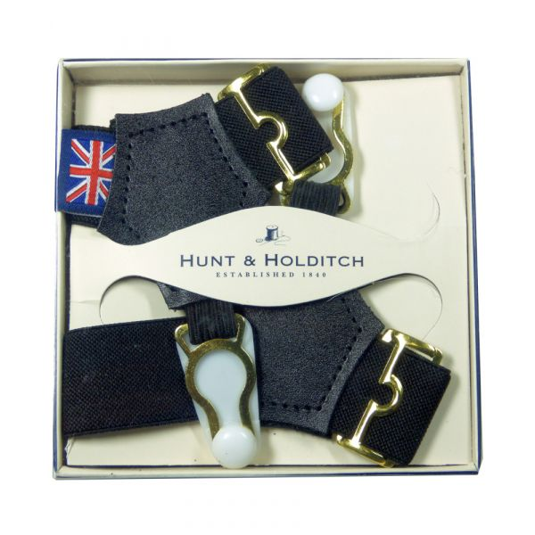 Black Sock Suspenders from Hunt & Holditch