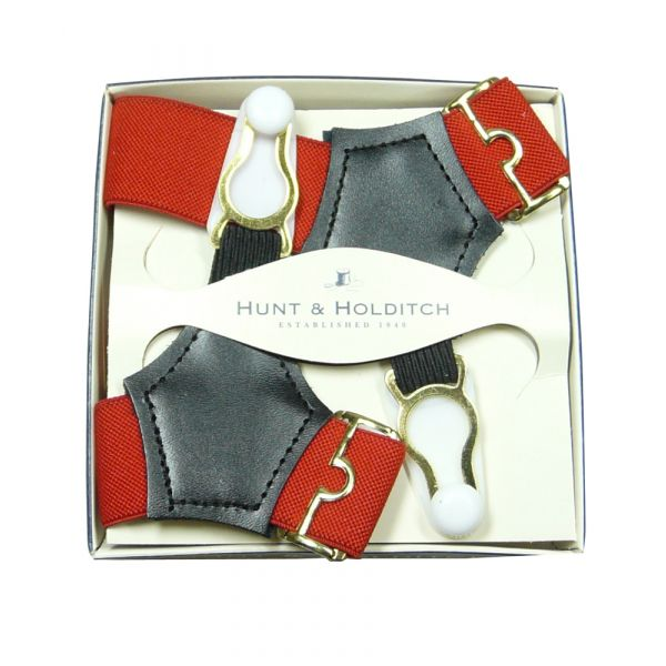 Red Sock Suspenders from Hunt & Holditch
