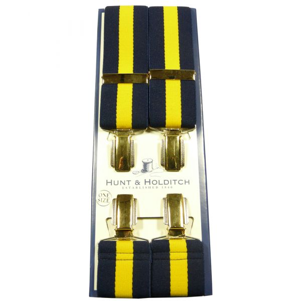 Navy and Gold Regimental Stripe Braces from Hunt & Holditch