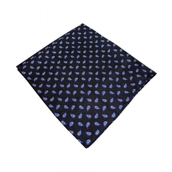 Black Birds Eye Silk Handkerchief
