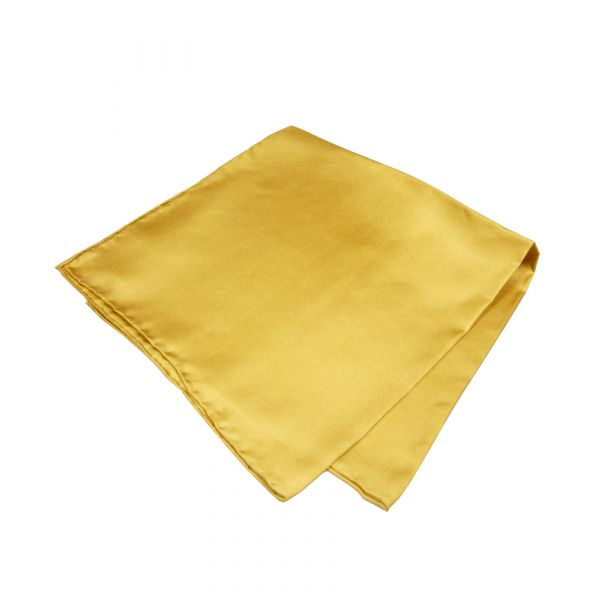 Dark Gold Silk Handkerchief