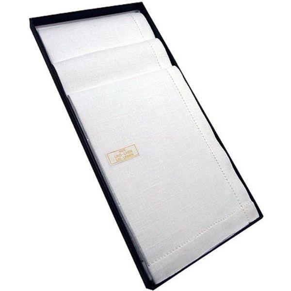 Gentleman's White Linen Handkerchief from Guasch