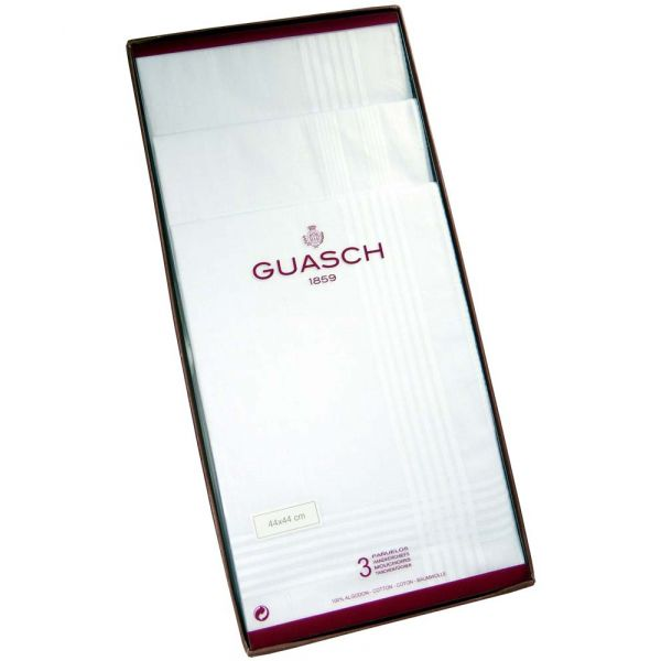 Prestige White Cotton Handkerchiefs from Guasch