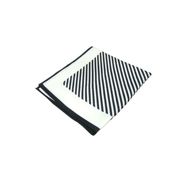Black Striped Silk Handkerchief