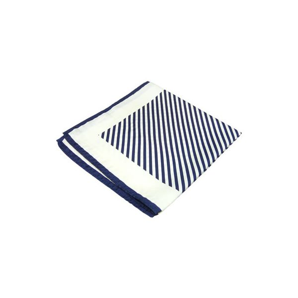 Navy Stripes Silk Handkerchief