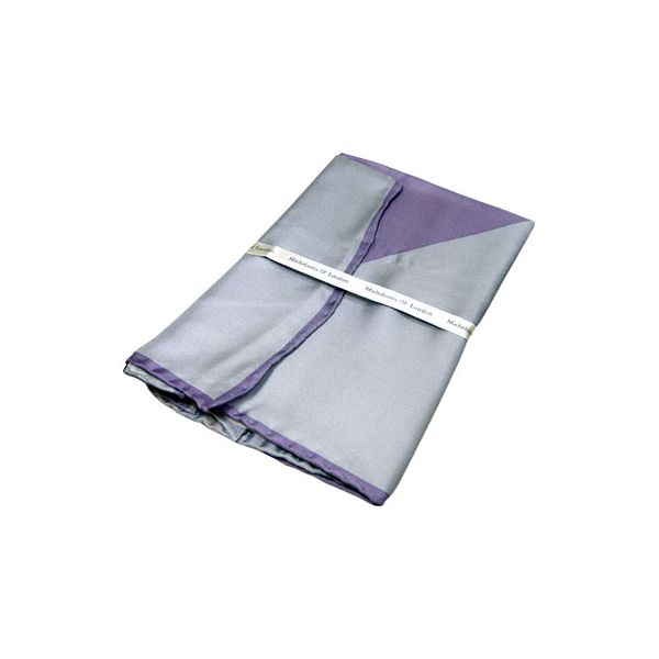 Grey and Lilac Two Colour Silk Handkerchief