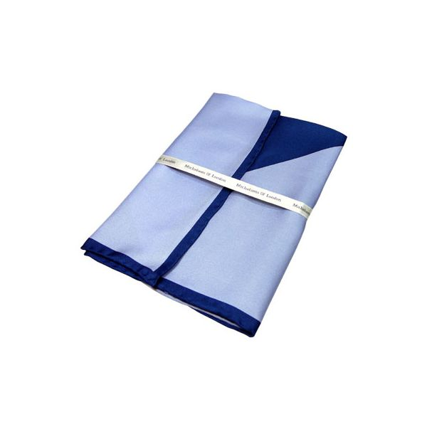 Navy and Blue Two Way Silk Handkerchief