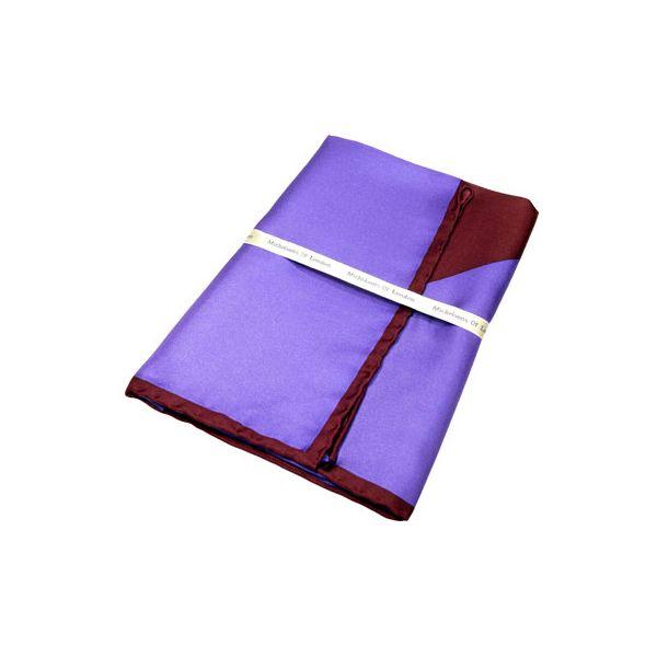 Purple and Wine Two Way Silk Handkerchief