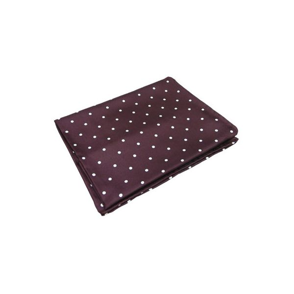 Burgundy Wide Spotted Silk Handkerchief