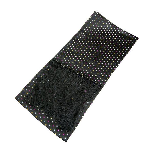 Black with Multi Coloured Spots Dress Scarf