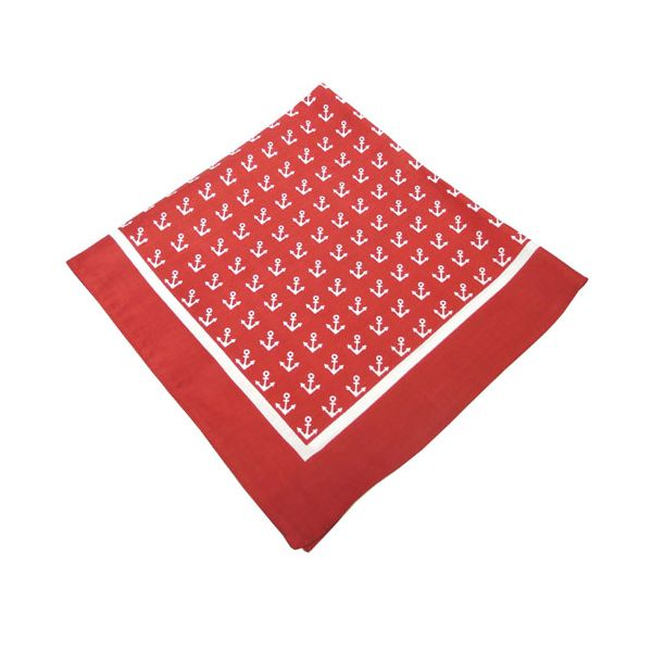 Red Anchor Cotton Bandana