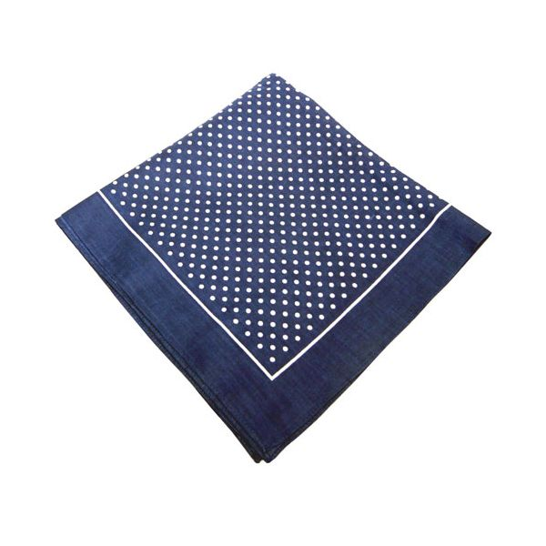 Navy Small Spot Cotton Bandana