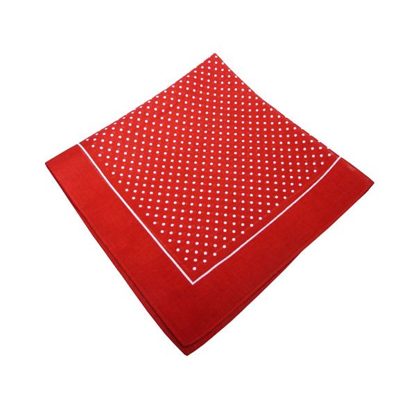 Red Small Spot Cotton Bandana