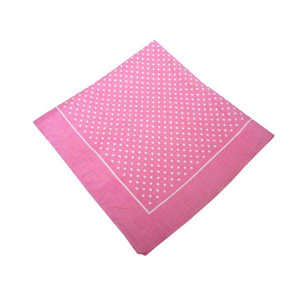 Pink Small Spot Cotton Bandana