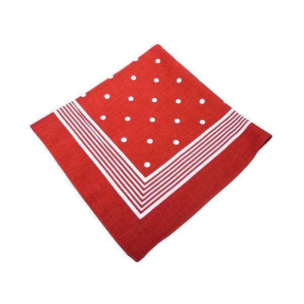 Red Large Spot Cotton Bandana