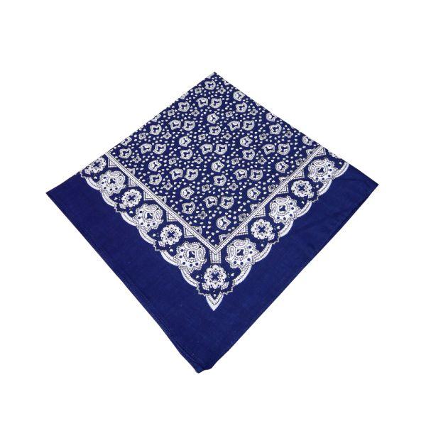 Dark Blue Paisley Cotton Bandana