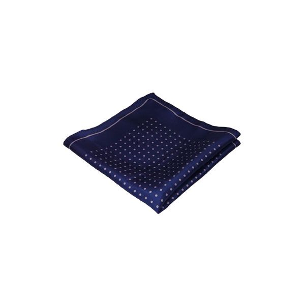 Navy with Lilac Spots Silk Hankie