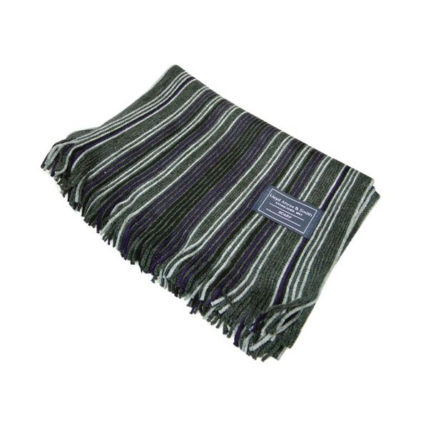 Grey& Purple Stripe Acrylic Scarf