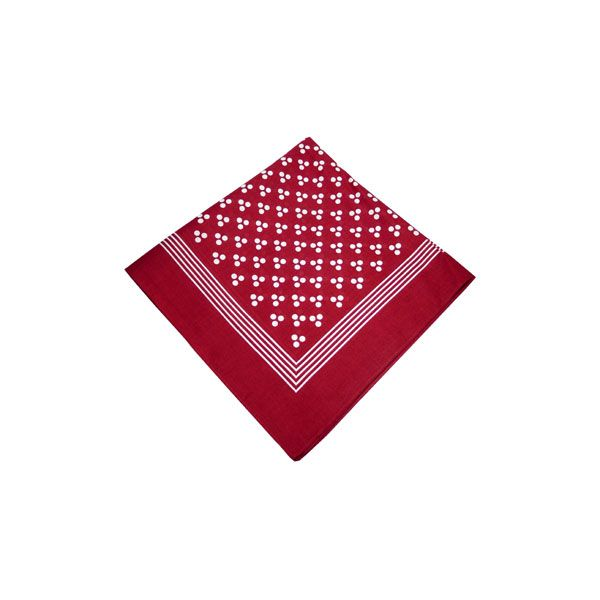 Burgundy Cotton Bandana with Triple White Spots