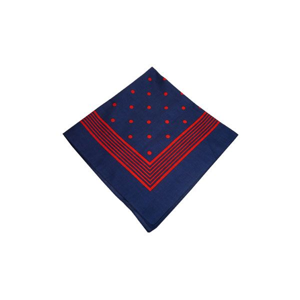 Navy Bandana with Large Red Spots