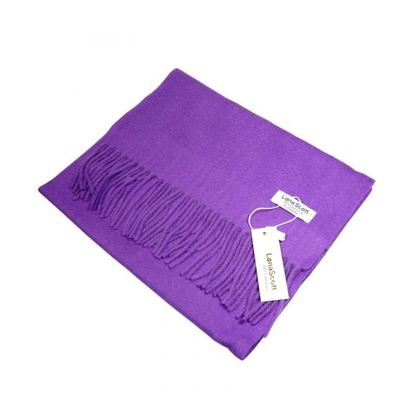 Bright Purple Cashmere Scarf
