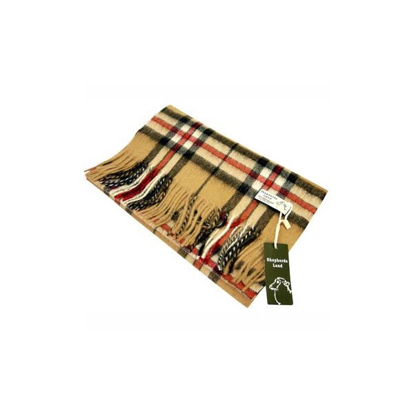 Camel Thomson Lambswool Scarf
