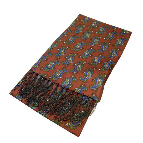 Paisley Design Printed Silk Scarf