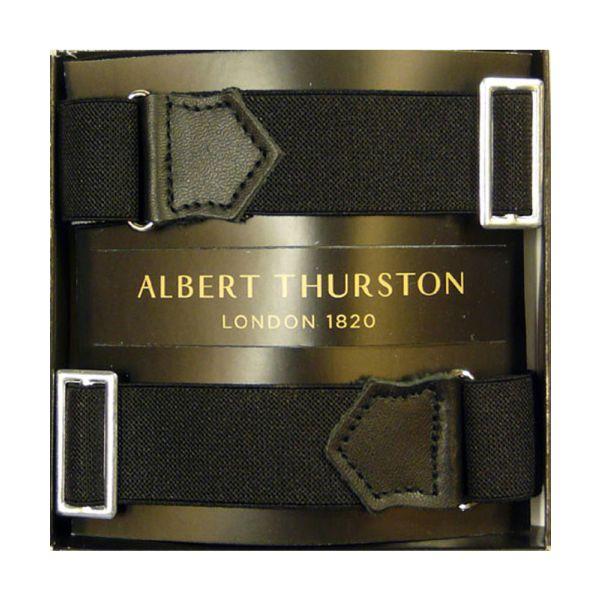 Albert Thurston Black Armbands with Black Leather
