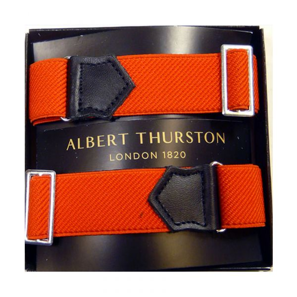 Albert Thurston Red Armbands with Black Leather