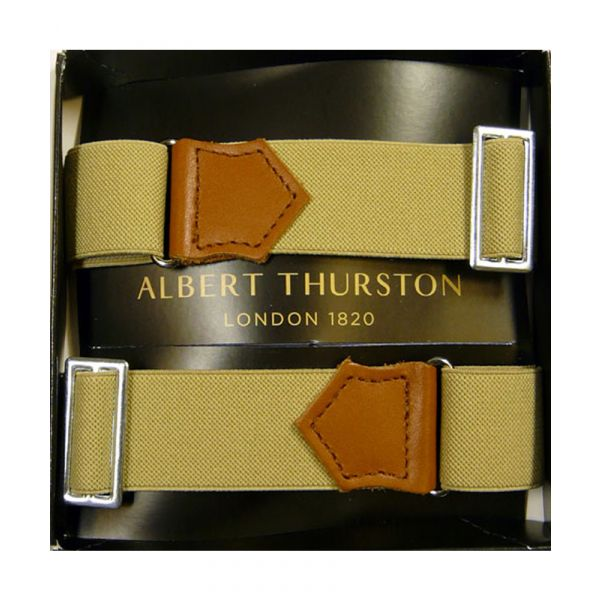 Albert Thurston Beige Armbands with Tan Leather