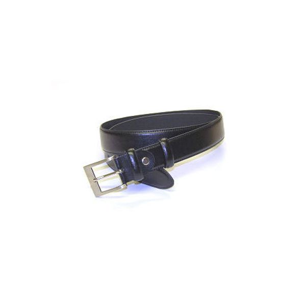 Black Leather Edge Stitched Belt