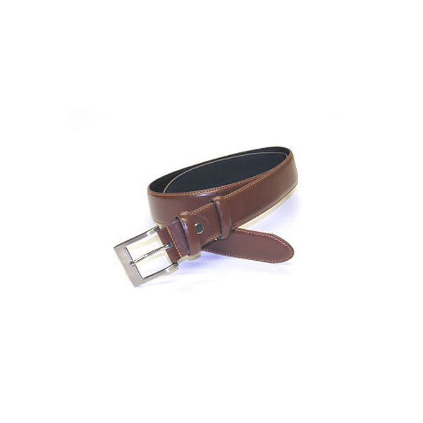 Brown Leather Edge Stitched Belt