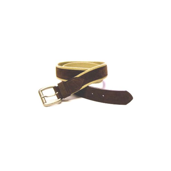 Brown Cotton Belt with Leatherette Trim