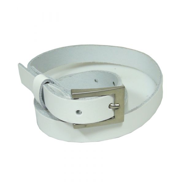 Ladies Leather Belt in White