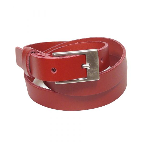 Ladies Leather Belt in Red