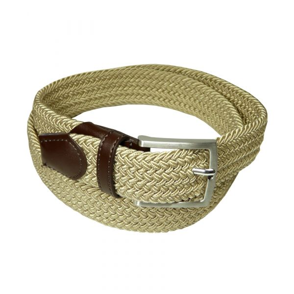 Beige Elasticated Webbing Belt