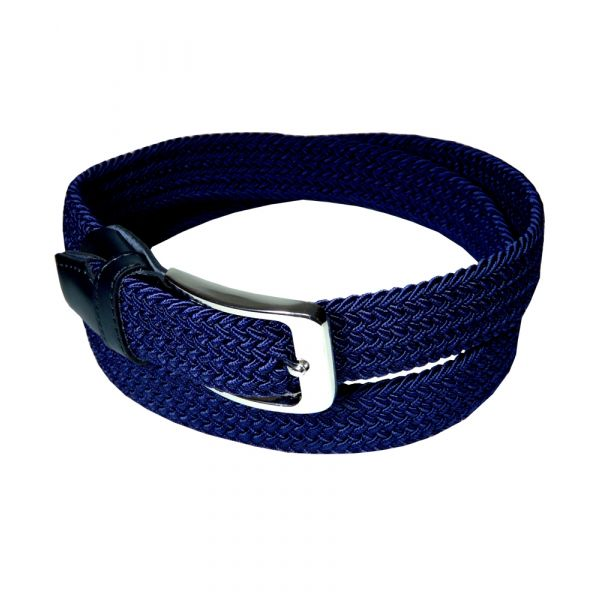 Navy Elasticated Webbing Belt